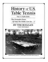 History of U.S. Table Tennis Volume 1
