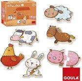 Goula Carla's Boerderij - Kinderpuzzel - 6 puzzels