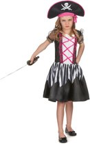 Piraten kostuum met roze kleuren voor meisjes - Verkleedkleding