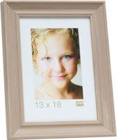 Deknudt Frames S46LF3  20x20cm Fotokader beige geschilderd in landelijke stijl