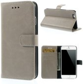 Shop4 - iPhone 6 - Wallet Case Hoesje Vintage Beige