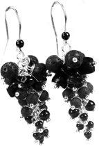 Bela Donaco Oorbellen Black Dress Collection - Lavasteen - Onyx - Obsidiaan