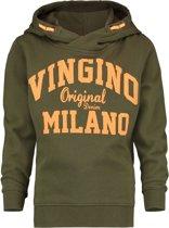 Vingino Jongens Hooded Sweater - Camo Green - Maat 140