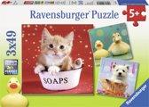 Ravensburger puzzel Grappige Dieren 3 x 49 stukjes
