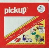 Pickup plakletters boekje largo 12,5mm letters wit