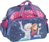 Frozen - Sporttas - voor Meisjes - 37 cm - Blauw met Roze