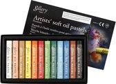 Gallery Oliepastel Premium, dikte 10 mm, l: 7 cm, 12 stuks, diverse kleuren