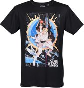 Star-Wars-T-shirt-met-korte-mouw-zwart - Maat M