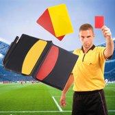 Scheidsrechter Set Met Rode & Gele Kaarten Set - Voetbal Scheidsrechterkaarten -Referee Accessory Soccer Set Met Aantekeningen Boek