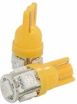 T10 ORANJE 5SMD LED lamp 5050