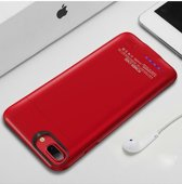 Mobieletelefoonhoesje.nl - iPhone 6 / 6s / 7 / 8 Battery Power Case 3000 mAh Rood