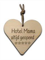 Houten hartje 16x16cm Hotel mama - 210023072014