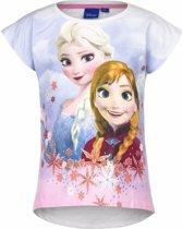 Frozen t-shirt wit voor meisjes 110 (5 jaar)