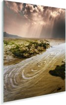 Het estuarium van Portmeirion bij Noord-Wales in het Verenigd Koningkrijk Plexiglas 60x80 cm - Foto print op Glas (Plexiglas wanddecoratie)