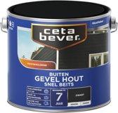 Cetabever Snel Beits Gevel - Dekkend - Zwart - 2,5 L