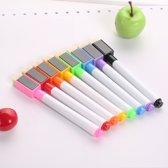 whiteboard stiften magnetisch met wisser 8 stuks ,set magnetische whiteboard stiften