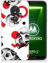Motorola Moto G7 Power TPU Hoesje Design Skull Red