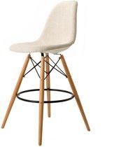Design barkruk DD DSW barkruk upholstered beige kuipstoel