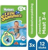 Huggies Little Swimmers Zwemluiers mt 3-4 - 3x 12 stuks - Voordeelverpakking