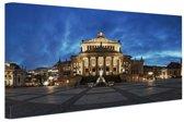 FotoCadeau.nl - Panorama Gendarmenmarkt in Berlijn Canvas 80x60 cm - Foto print op Canvas schilderij (Wanddecoratie)