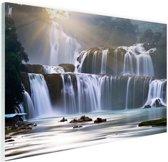 Ban Gioc waterval Glas 30x20 cm - klein - Foto print op Glas (Plexiglas wanddecoratie)