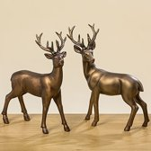 Hert & Ree - Bruin - 2 set - Staand - 22 cm