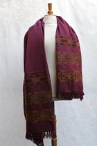 Yakwol sjaal – warme jakwol woondeken – hele grote shawl omslagdoek - ca. 200 x 100 cm