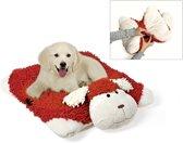 Karlie ligbed dogmaxx sleep rood/wit