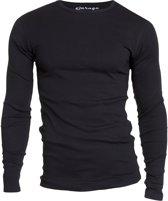 Garage 303 - T-shirt R-neck l/sl semi bodyfit black S 100% cotton 1x1 rib
