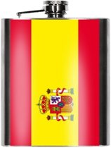 Heupfles Spaanse vlag 200 ml - Spanje heupflacon