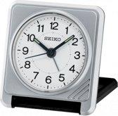 Seiko reiswekker met elektronisch piep alarm - grijs/zwarte uitvoering