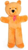 XXL teddybeer - oranje - 170 cm