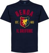 Genoa Established T-Shirt - Navy - XL