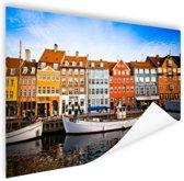 Nyhavn Kopenhagen Poster 120x80 cm - Foto print op Poster (wanddecoratie)