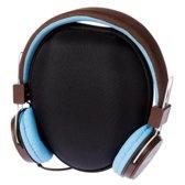 Grixx GROHRETRO02 Hoofdband Stereofonisch Bedraad Blauw, Bruin mobiele hoofdtelefoon