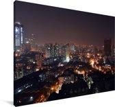 Uitzicht over Bombay in de avond Canvas 30x20 cm - klein - Foto print op Canvas schilderij (Wanddecoratie woonkamer / slaapkamer)