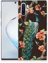 Samsung Galaxy Note 10 Plus Back Case Pauw met Bloemen