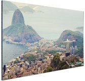 FotoCadeau.nl - Uitzicht over Rio de Janeiro Aluminium 60x40 cm - Foto print op Aluminium (metaal wanddecoratie)