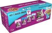 Whiskas Multipack Pouch - Adult - Vis Selectie Gelei - Kattenvoer - 40 x 100 g