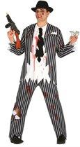 Zombie Kostuum   Al Creepone Gangster   Man   Maat 52-54   Halloween   Verkleedkleding