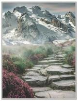 Mountain Path Oversized 8.5x11, 150 Page Lined Blank Journal Notebook