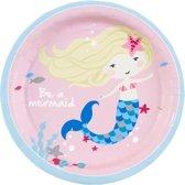 Amscan Feestborden Be A Mermaid 18 Cm 8 Stuks