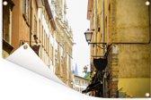 Franse architectuur in de straten van Lyon Tuinposter 60x40 cm - klein - Tuindoek / Buitencanvas / Schilderijen voor buiten (tuin decoratie)