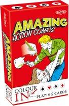 Colour-In Speelkaarten Amazing Action Comics