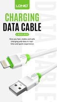 LDNIO LS33 2 Meter USB C Kabel Snellader Oplaad Kabel - geschikt voor o.a Samsung Galaxy A3 A5 2017 A8 A9 2018 S9 Plus