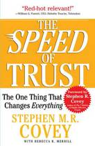 Boek cover The Speed of Trust van Stephen Covey (Onbekend)