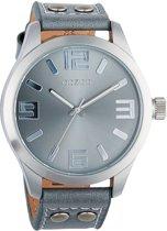 OOZOO Timepieces C1060 - Horloge - Leer - Grijs - Ø 46 mm