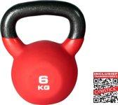 Gymstick Pro Neopreen - Kettlebell  - 6 kg - Met trainingsvideo's