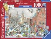 Ravensburger puzzel Fleroux´s Amsterdam in winter - legpuzzel - 1000 stukjes