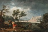 Claude Joseph Vernet : The Four Times of Day - Midday (1757) Canvas Print